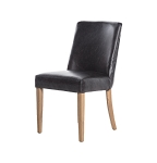 Rebel leather dining chair black set of 6 left only