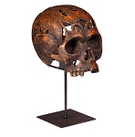 Skull Carved  on Stand
