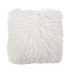 Cushion - Fur - Feather filled white square