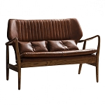 Chicago 2 Seat Leather Sofa