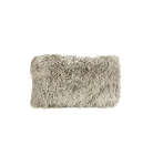 Cushion - Fur - Feather filled grey snow lumbar