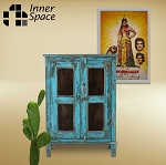 Jaipuri blue 2 door cabinet