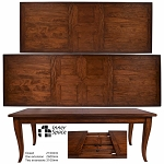 Bordeaux  Double Extension Dining Table Burned Umber