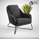 Nolita arm chair - charcoal