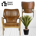 Chicago Leather Tobacco  Armchair