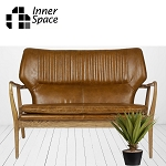 Chicago 2 Seat Leather Brown Sofa  DISCONTINUED ONLY 1 LEFT