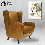 Chrysler Deco wing back armchair