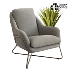 Nolita arm chair - grey taupe frame
