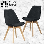 Lisbon dining chair -charcoal