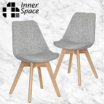 Lisbon dining chair -pebble