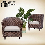 Malacca arm chair natural