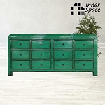 Shanghai Sideboard / Buffet - jade green 12 drawer