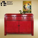 Shanghai Sideboard / Buffet - 2 door 3 drawer red
