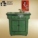 Shanghai Console / Buffet  - 2 door 2 drawer emerald