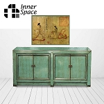 Shanghai Sideboard / Buffet - aqua 4 door