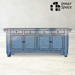 Shanghai Sideboard / Buffet - pale blue 4 door 4 drawer