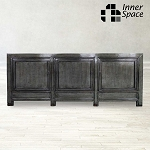 Shanghai Sideboard / Buffet - washed dark grey 3 door