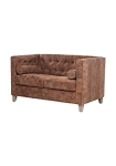 Waverly Suede Leather 2 Seat Sofa
