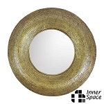 Mirror Round Antiqued brass