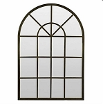 Arched Iron Window Mirror