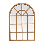 Natural Arched Window Mirror