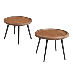Organic Riga Set 2 Circular Tables PICTURED WITH BLACK LEGS.....ONLY SILVER LEGS AVAILABLE