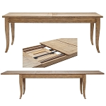 Bordeaux  Double Extension Dining Table Natural