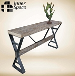 Bench style console / hall table