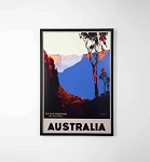 Blue Mountains Framed Poster