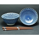 Japanese - Bowl Set of 2 with Chopsticks- various
