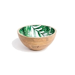 Palm frond salad bowl small