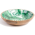 Palm frond salad bowl large