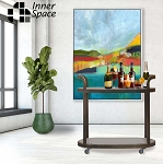 Drinks Trolley - bronzed industrial