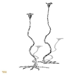 Candles Eden Couple Chrome Candleholder