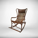 Rocking chair - available in natural cane finish or white