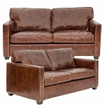 Chadwick Club Sofa - 2 seater Aged Vintage Leather