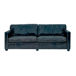 Chadwick Club Sofa - 2 seater Aged Ebony Leather