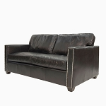 Chadwick Club Sofa - 3 seater Aged Ebony Leather