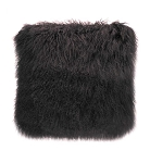 Cushion - Fur - Feather filled charcoal square