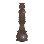 Chess King Single Piece Brown