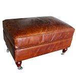 Ottoman Chrysler - aged leather