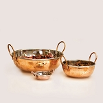 Copper Bowls - With Handles