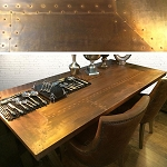 Cyprus Copper Top Refectory Table