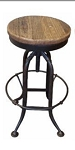 Stool Timber/Metal Wind Up