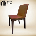 Daintree leather dining chair