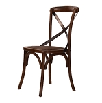 Cafe Dining Chair - with metal back bands
