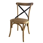 Dining Chair Davenport Metal Cross Back