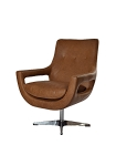 New York Leather Swivel Chair
