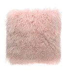 Cushion - Fur - Feather filled pink square