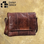 Bag - Leather - Vintage - fold over lap top bag - $179 - 3 colours available